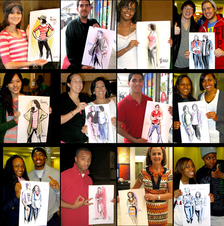 dallas caricature artists samples